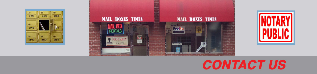 Mailboxes Times storefront picture - Contact us!