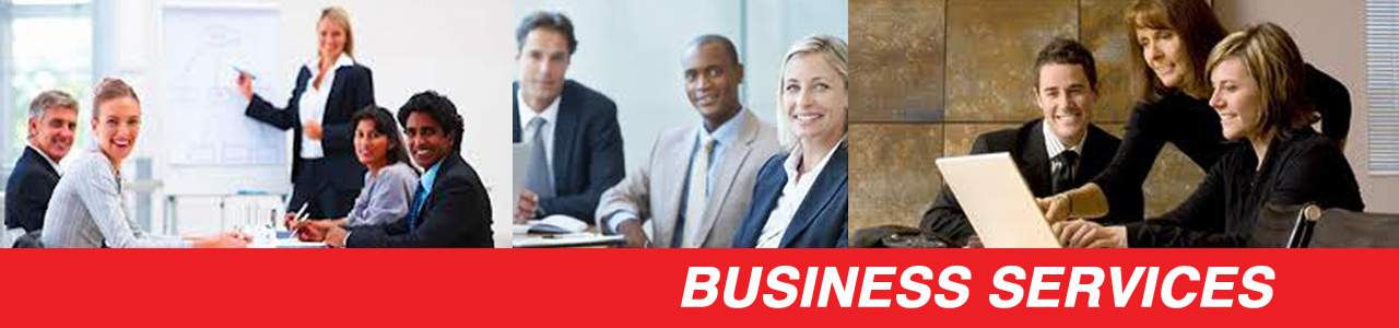 Business services page header